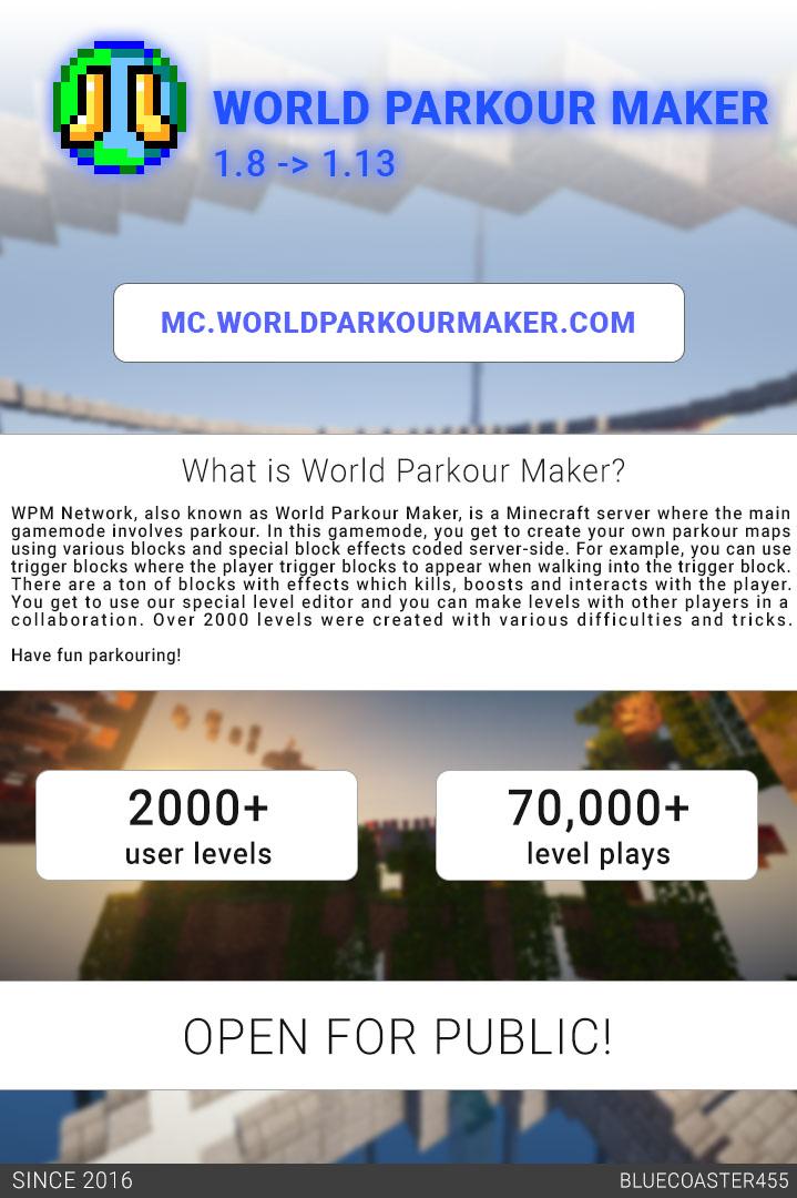 World Parkour Maker info
